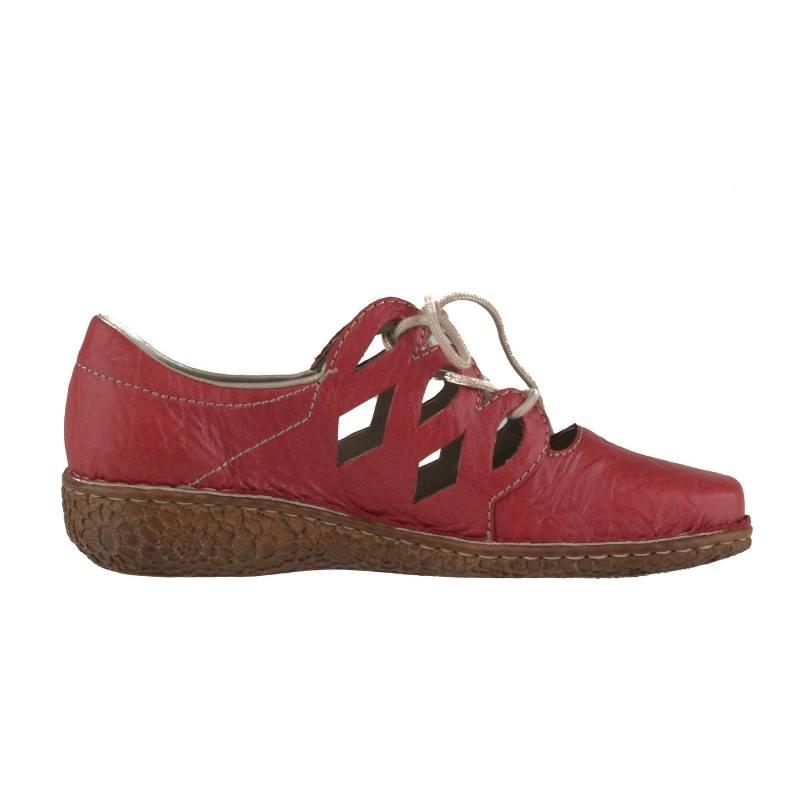 Дамски ежедневни обувки Rieker ANTISTRESS естестена кожа бордо M0945-33