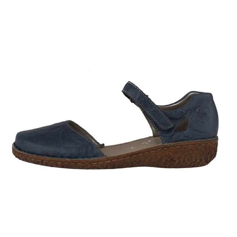 Дамски ежедневни обувки Rieker ANTISTRESS естествена кожа сини M0969-13