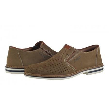 Мъжки спортно-елегантни обувки без връзки Rieker B1467-64