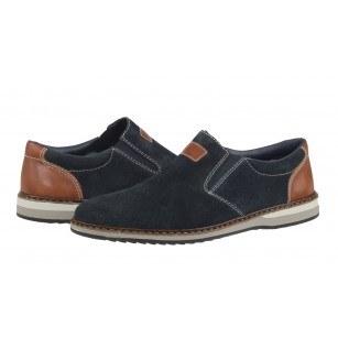 Мъжки спортно-елегантни обувки без връзки Rieker 16861-14