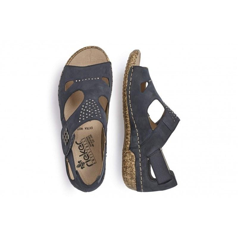 Дамски сандали на Rieker сини V7264-14
