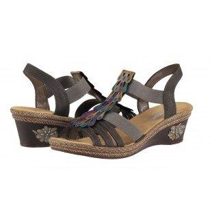 Дамски сандали Rieker V2426-45  тъмно кафяви