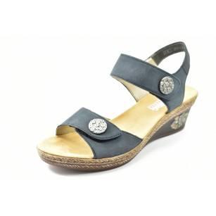 Дамски сандали на платформа Rieker V24B9-14 сини