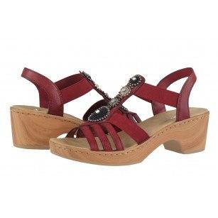 Дамски сандали на ток Rieker ANTISRESS V28S8-35 бордо