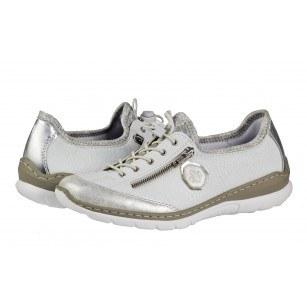 Дамски анатомични спортни обувки Rieker ANTISTRESS мемори пяна бели L3263-80