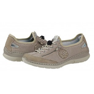 Дамски анатомични спортни обувки Rieker ANTISTRESS мемори пяна бежови L3266-40
