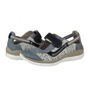 Дамски спортни обувки Rieker L32R7-12 сини/сиви