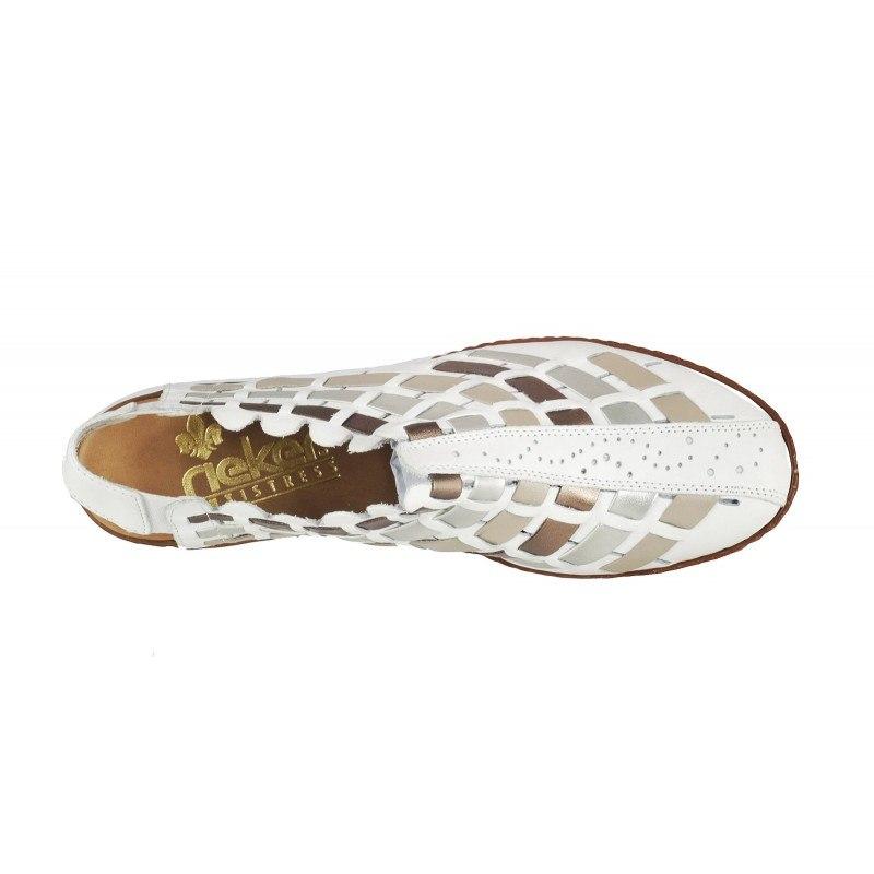 Дамски пролетни обувки Rieker ANTISTRESS бели 46778-81