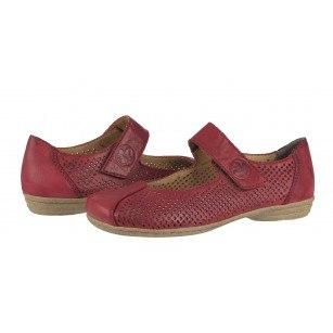 Дамски ежедневни обувки Rieker ANTISTRESS естестена кожа бордо 53977-35