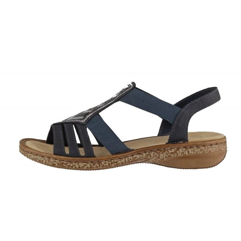 Дамски равни сандали Rieker ANTISTRESS 62821-14 тъмно сини