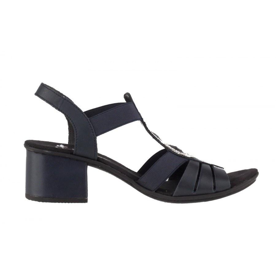 c73b93e68ce ... Дамски сандали на нисък ток Rieker тъмно сини 64660-15 ...