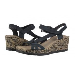 Дамски сандали на платформа Rieker черни V7671-14