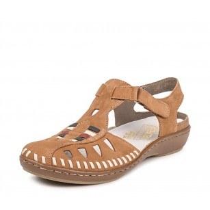 Дамски равни обувки естествена кожа Rieker ANTISTRESS