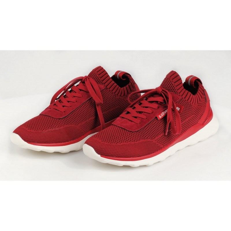 Мъжки спортни обувки с връзки S.Oliver червени