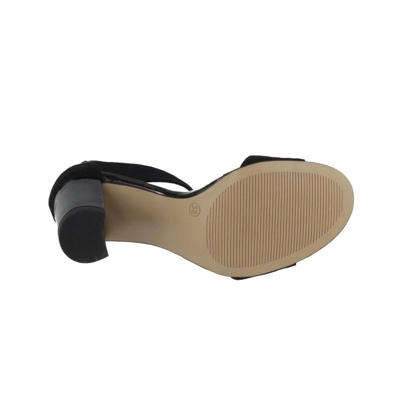 Дамски сандали на ток S.Oliver черни