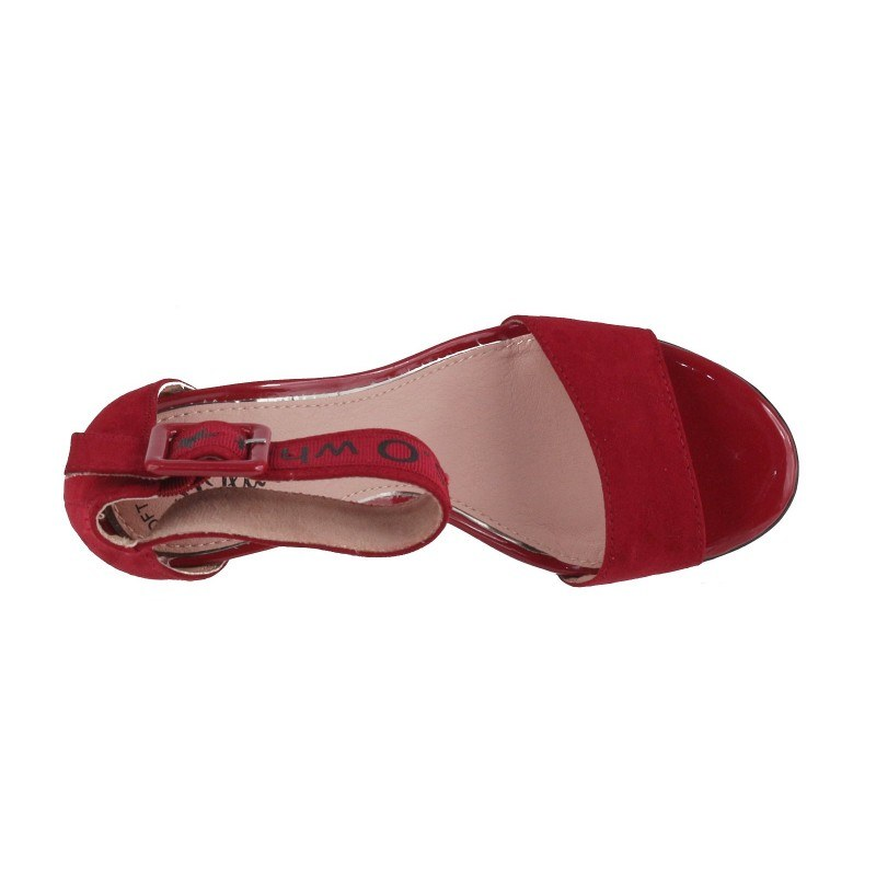 Дамски сандали на ток S.Oliver червени