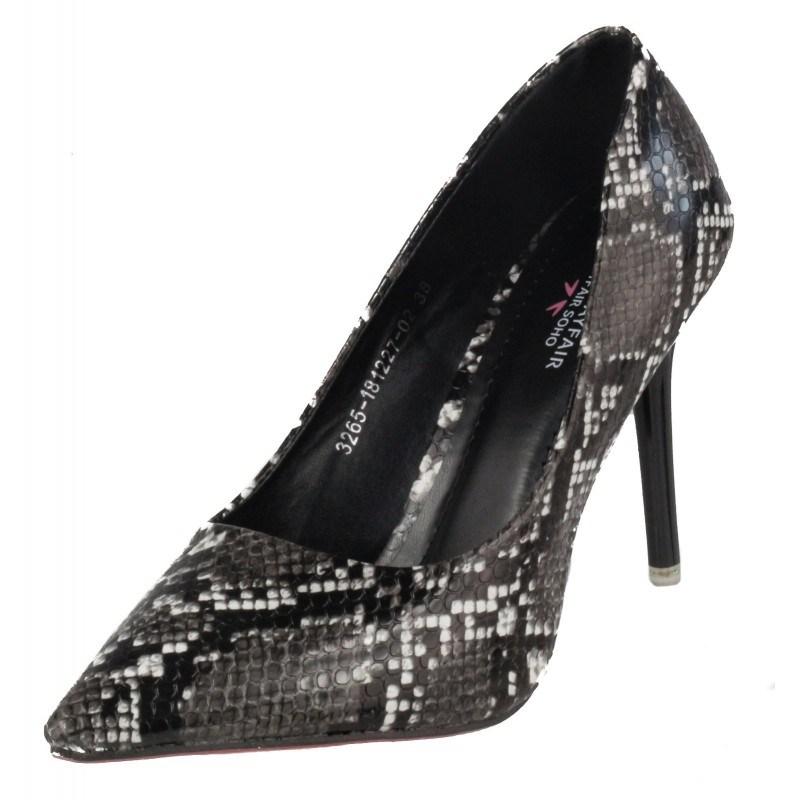 Дамски елегантни обувки на висок ток Soho Mayfair змийски принт