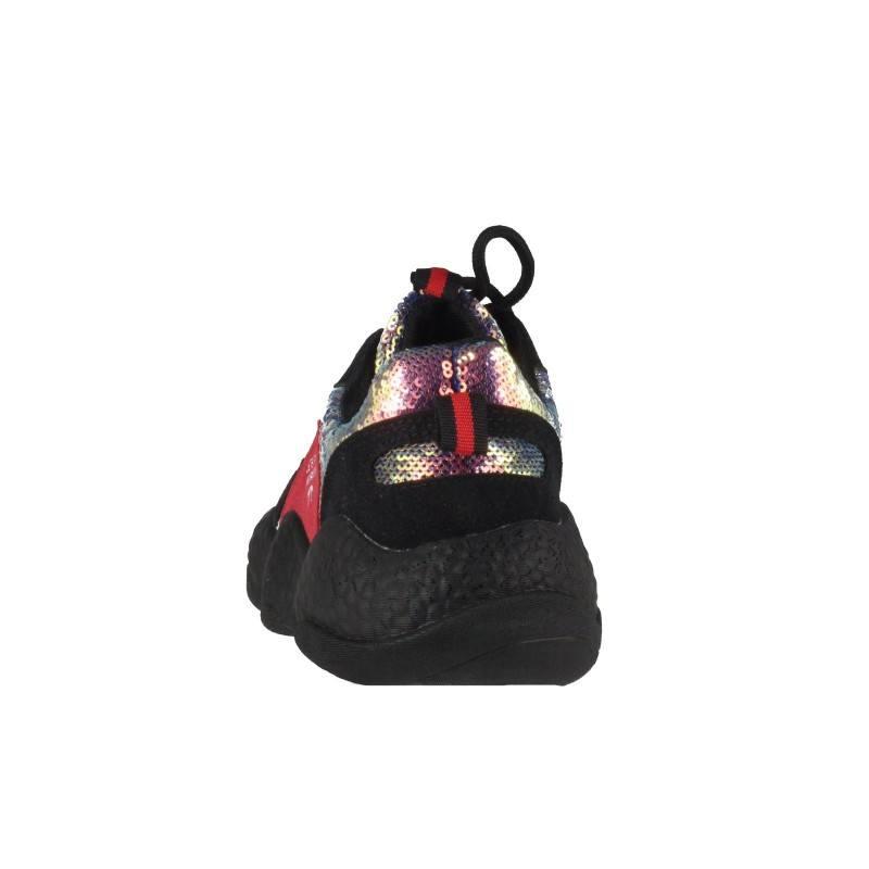 Дамски спортни обувки с пайети Soho Mayfair черни