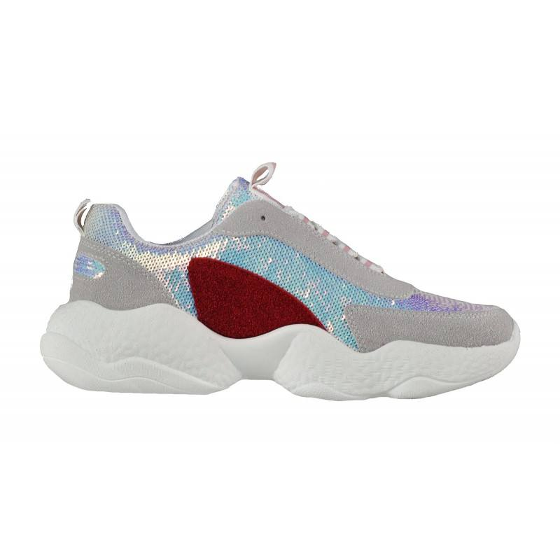 Дамски спортни обувки с пайети Soho Mayfair бели