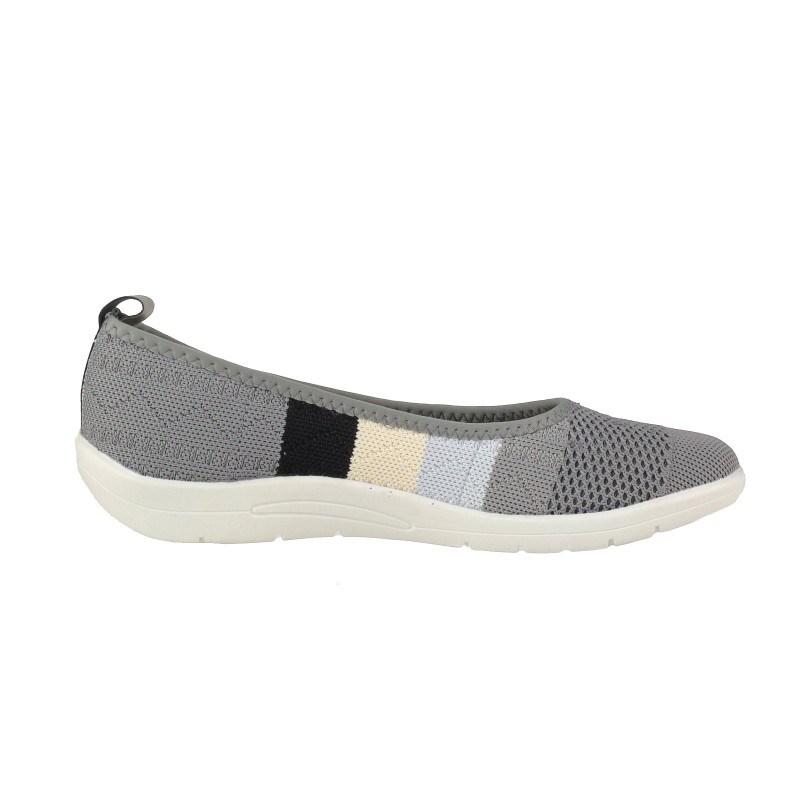 Дамски равни обувки без връзки Soho Mayfair сиви