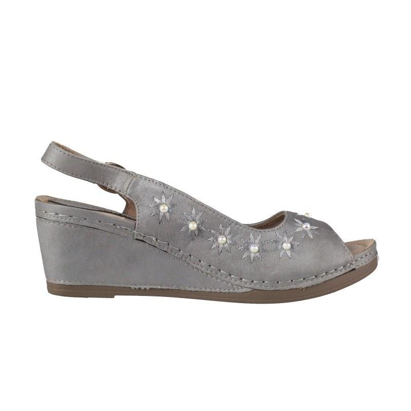Дамски анатомични сандали на платформа Soho Mayfair сиви