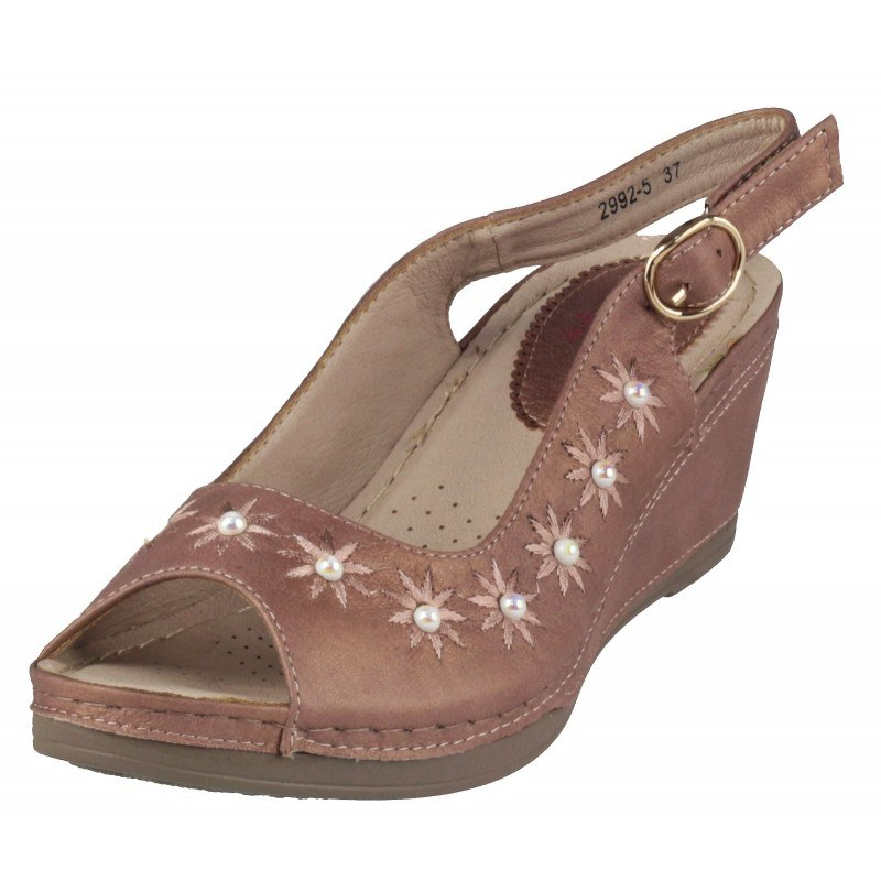 Дамски анатомични сандали на платформа Soho Mayfair розови