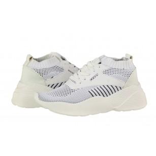 Дамски спортни обувки тип чорап Soho Mayfair бели