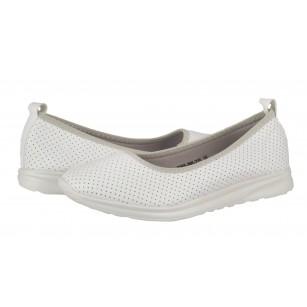 Дамски равни обувки без връзки Soho Mayfair бели