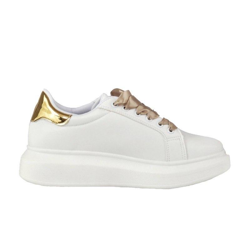 Дамски спортни обувки Soho Mayfair бели/златисти