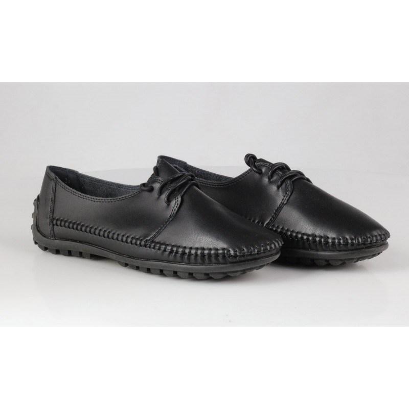 Дамски анатомични обувки с връзки Soho Mayfair черни