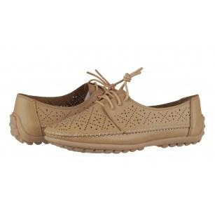 Дамски анатомични обувки с връзки Soho Mayfair бежови