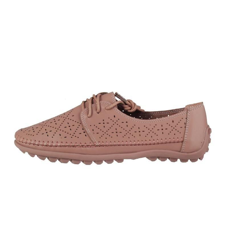 Дамски анатомични обувки с връзки Soho Mayfair розови