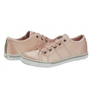 Дамски спортни обувки с връзки Salamander розов сатен