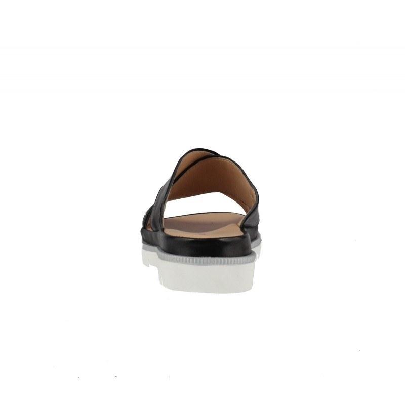 Дамски чехли от естествена кожа Salamander черни