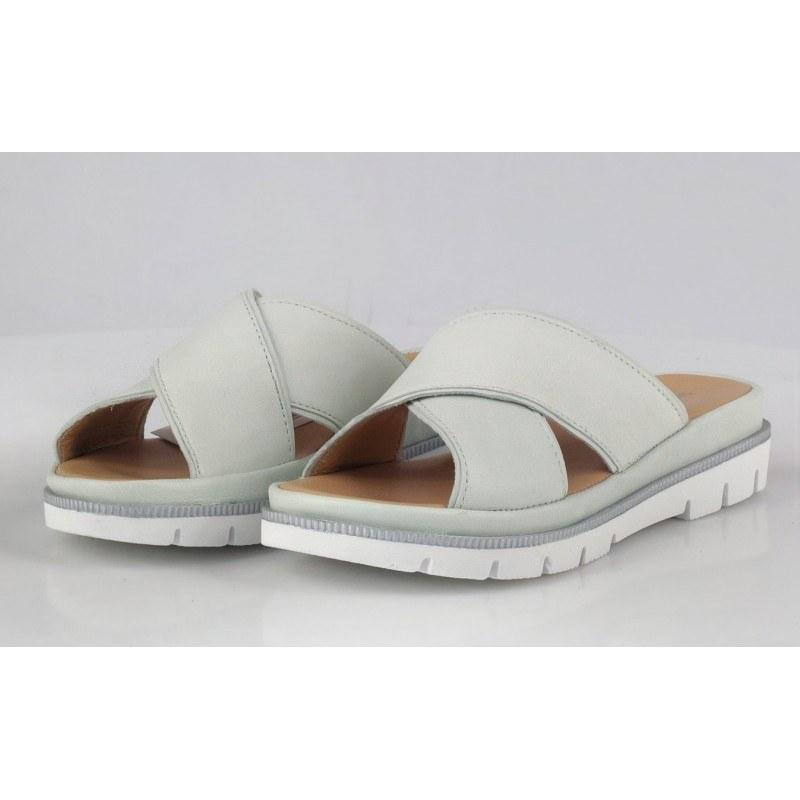 Дамски чехли от естествена кожа Salamander бели