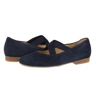 Дамски ежедневни обувки естествен велур Salamander тъмно сини