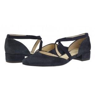 Дамски ежедневни обувки естествена кожа Salamander тъмно сини