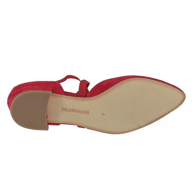 Дамски ежедневни обувки естествена кожа Salamander червени