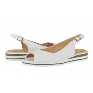 Дамски сандали на платформа Salamander бели естествена кожа