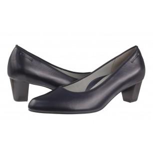 Дамски елегантни обувки на нисък ток Salamander естествена кожа сини