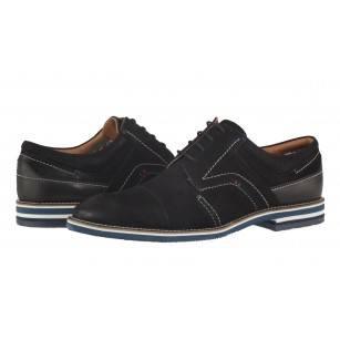 20f36504aac -24% Мъжки елегантни обувки от естествен велур Salamander черни