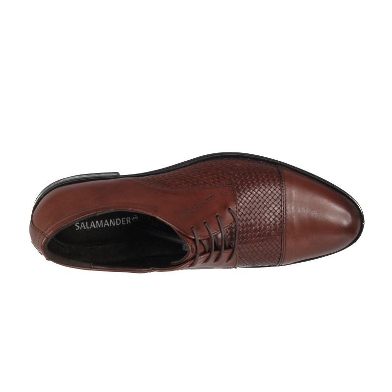Мъжки елегантни обувки Salamander кафяви естествена кожа