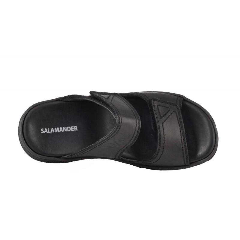 Мъжки чехли естествена кожа Salamander черни