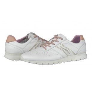 Дамски спортни обувки естествена кожа Salamander бели