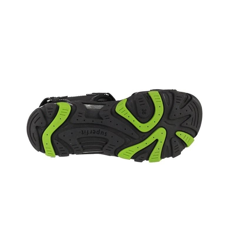 Ортопедични сандали Superfit черни/зелени 36/39