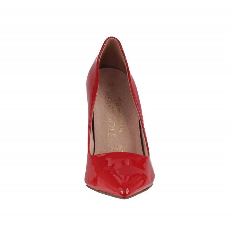 Дамски елегантни обувки на висок ток Tamaris HEART & SOLE естествена кожа червен лак