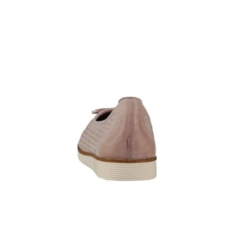 Дамски равни обувки Tamaris розови естествена кожа мемори пяна