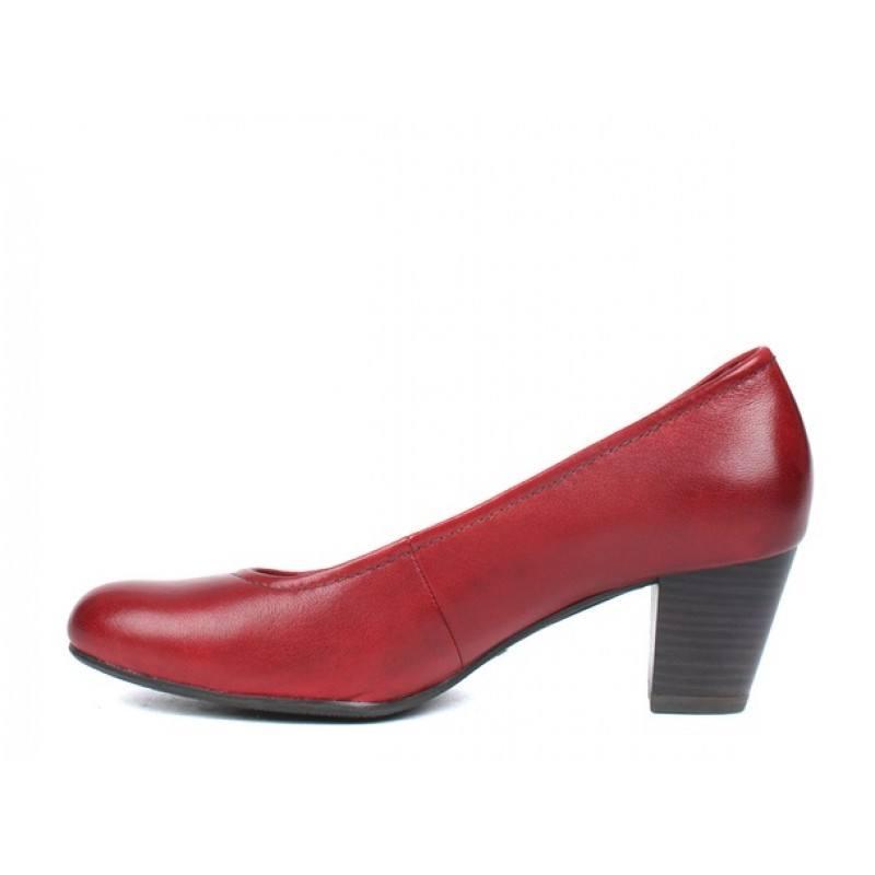 Дамски кожени обувки на ток Tamaris бордо
