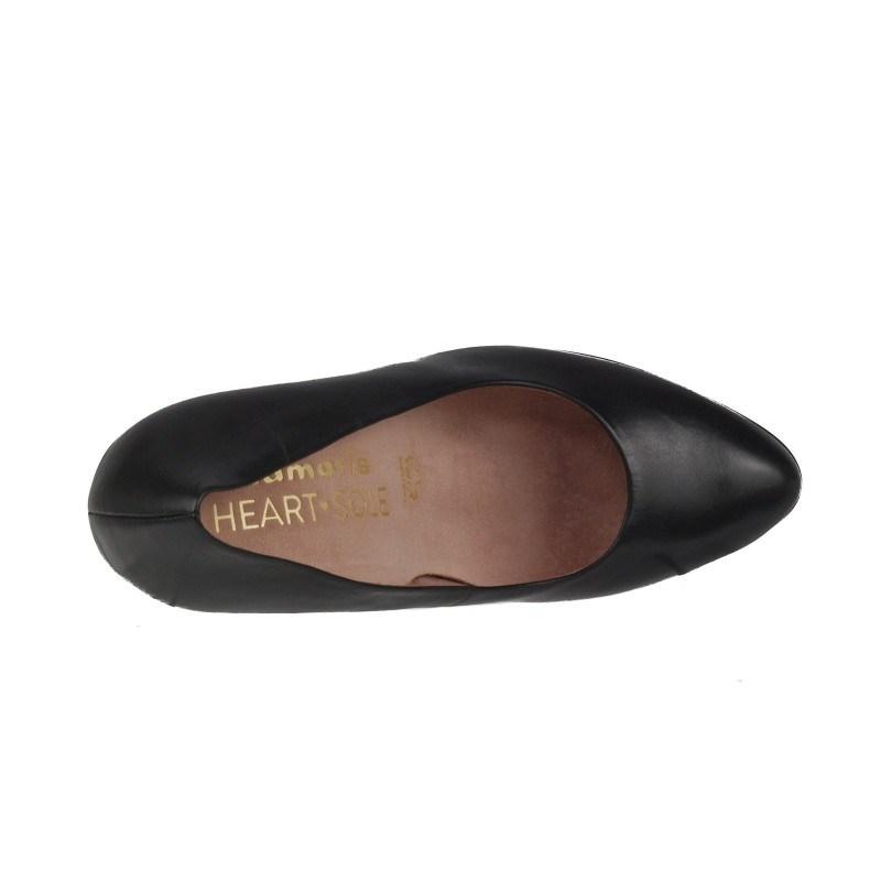 Елегантни дамски обувки на висок ток Tamaris черни