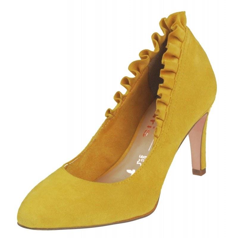 Дамски елегантни обувки на висок ток Tamaris мемори пяна Marcel —x— Ostertag жълти